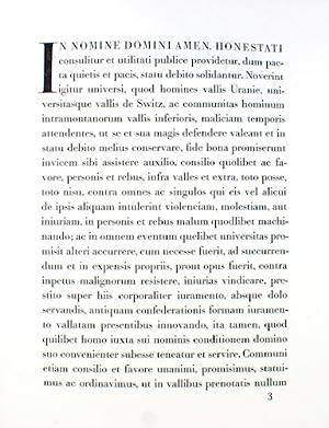 Primum Pactum Confoederationis Helveticae MCCXCI