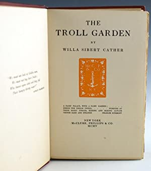 The Troll Garden: Cather, Willa