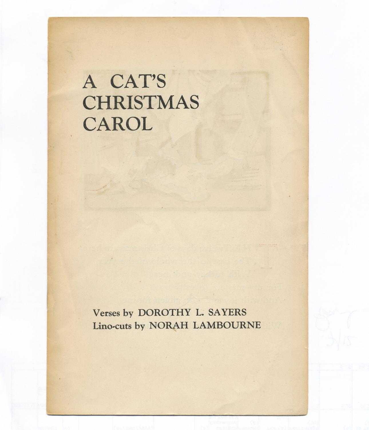 A CAT'S CHRISTMAS CAROL: SAYERS, Dorothy L.