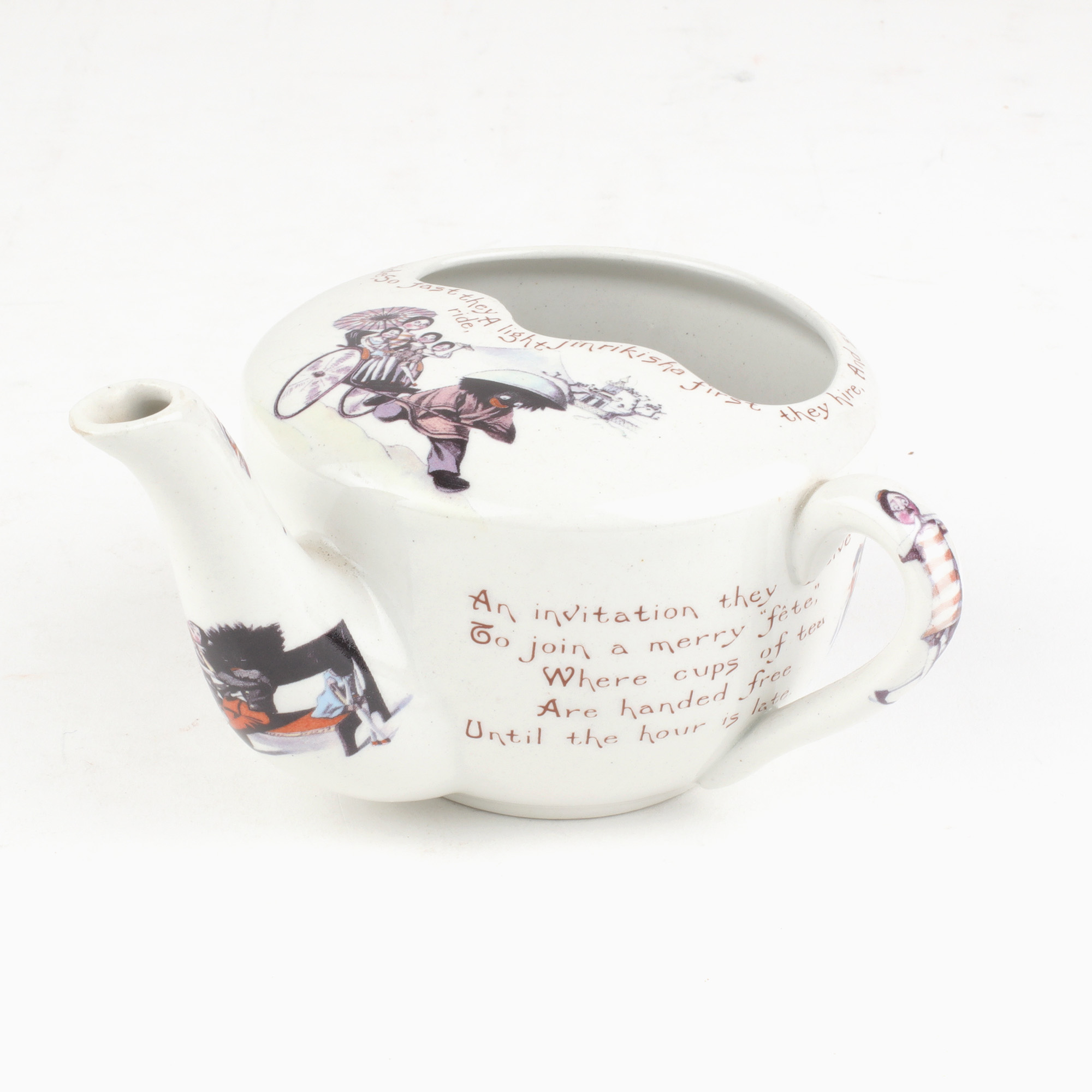 PORCELAIN GOLLIWOGG FEEDING CUP UPTON, Florence and Bertha
