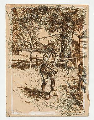 ORIGINAL PEN AND INK DRAWING FOR INGOLDSBY: RACKHAM, Arthur