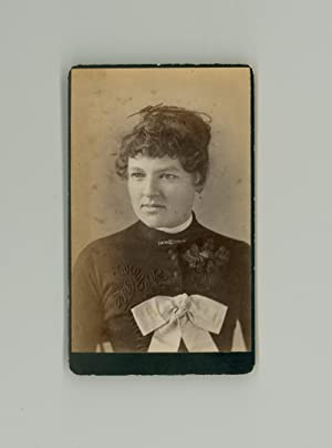 Somebody s Sweetheart. 1870s Victorian Era CDV, Antique Photograph of Pretty Young Woman with Lar...