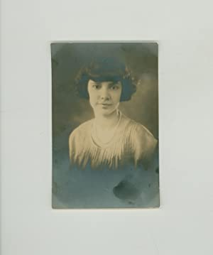 Sweet Bird of Youth - Vintage 1920s Portrait of Lovely Young Woman. Formal Unmounted Photograph .