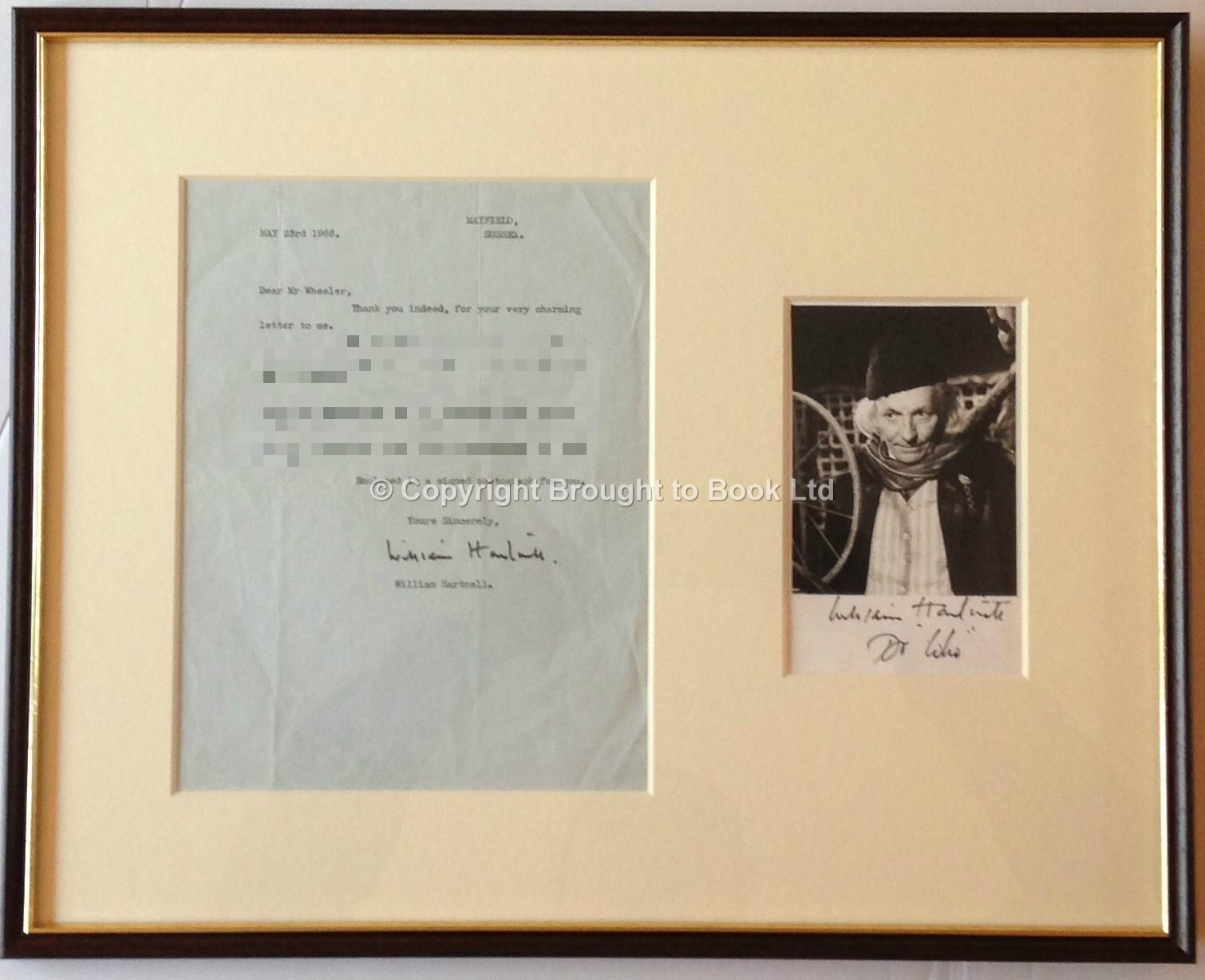 William hartnell signed photograph and letter framed doctor who william hartnell signed photograph and letter framed doctor who autograph william hartnell jeuxipadfo Choice Image