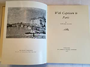 With Capricorn to Paris (First Edition): Seago, Edward