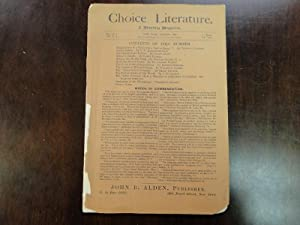 CHOICE LITERATURE a Monthly Magazine: Periodical
