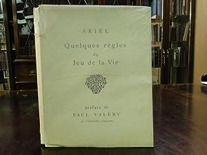 QUELQUES REGLES DU JEU DE LA VIE (A FEW RULES FOR THE GAME OF LIFE): Ariel