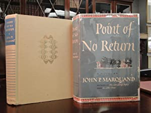 POINT OF NO RETURN: Marquand, John P.