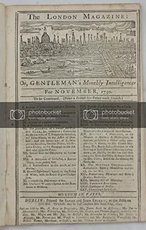 The London Magazine: or, Gentleman's Monthly Intelligencer