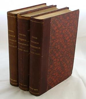 Index Librorum Prohibitorum: [with] Centuria Librorum Absconditorum: Fraxi Pisanus [Ashbee,