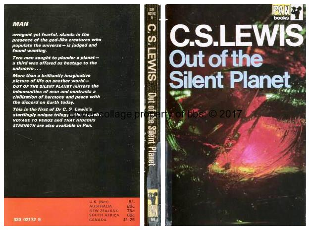an account of the voyage of ransom in cs lewis book out of the silent planet Out of the silent planet is the first novel of the cosmic trilogy, considered to be cs lewis' chief contribution to the science fiction genre the trilogy concerns dr ransom, a linguist, who, like christ, was offered a ransom for mankind.