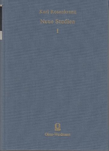 Neue Studien. 4 Bände. Band 1 Studien zur Culturgeschichte. Band 2 Studien zur ...