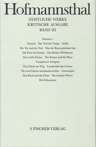 Hugo von Hofmannsthal - Sämtliche Werke. Kritische: von Hofmannsthal, Hugo,