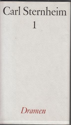 Gesamtwerk. Bände 1 - 9 (ohne 10.1 und 10.2).: Sternheim, Carl und Wilhelm [Hrsg.] Emrich: