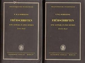 Frühschriften - Eine Auswahl in zwei Bänden. Band 1 und Band 2. Hrsg. und eingeleitet von...