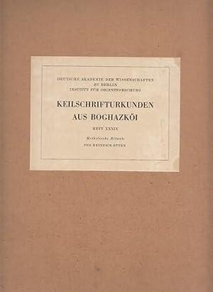 Keilschrifturkunden aus Boghazköi. Heft XXXIX (Heft 39). Hethitische Rituale. Deutsche ...