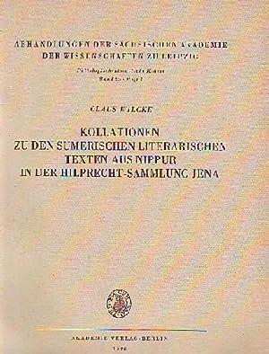 Kollationen zu den sumerischen literarischen Texten aus: Wilcke, Claus: