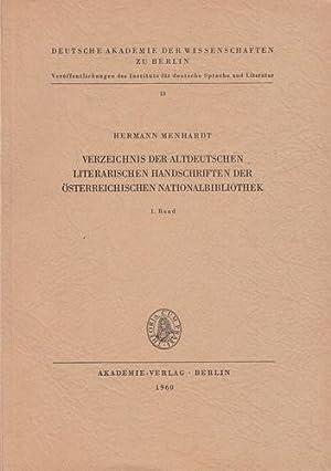 Verzeichnis der altdeutschen literarischen Handschriften der Österreichischen ...