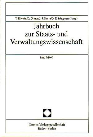 Jahrbuch zur Staats- und Verwaltungswissenschaft Band9/1996: Ellwein, Thomas, D.