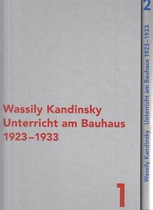 Wassily Kandinsky - Unterricht am Bauhaus 1923-1933. 2 Bände. Vorträge, Seminare, Ü...