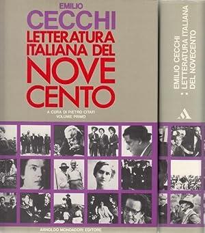 Letteratura italiana del Novecento. 2 Bände. Volume primo e volime secondo. A cura di Pietro ...