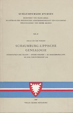 Schaumburg-Lippische Genealogie: Stammtafeln der Grafen - später: Wieden, Helge bei
