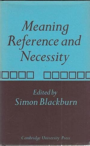Meaning, Reference and Necessity - New Studies in Semantics.