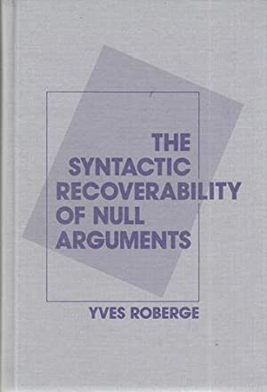 The Syntactic Recoverability of Null Arguments.
