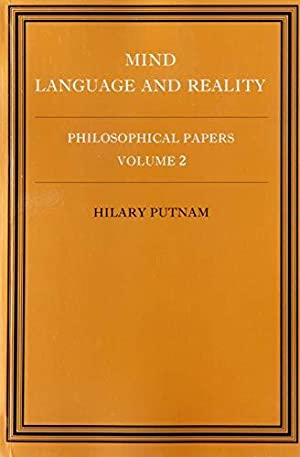 Mind, Language and Reality. Philosophical Papers, Vol. 2.