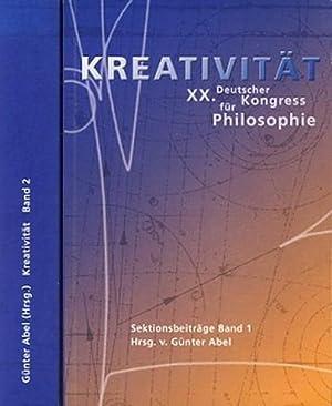 Kreativität. XX. Deutscher Kongress für Philosophie. Sektionsbeiträge. 2 (zwei) B&...