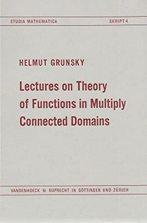 Lectures on theory of functions in multiply: Grunsky, Helmut: