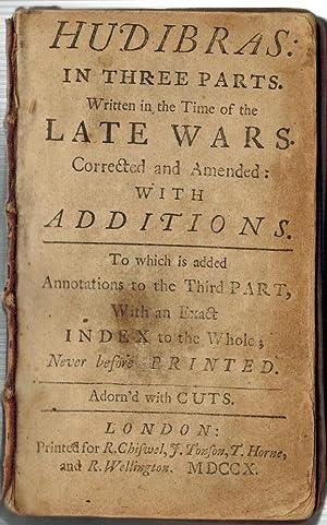 HUDIBRAS in Three Parts Written in the: BUTLER, Samuel]