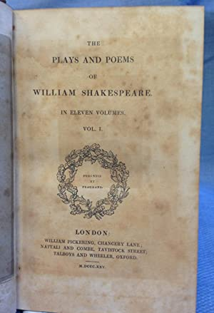 The Plays and Poems of William Shakespeare. Ten Volumes.: Shakespeare, William