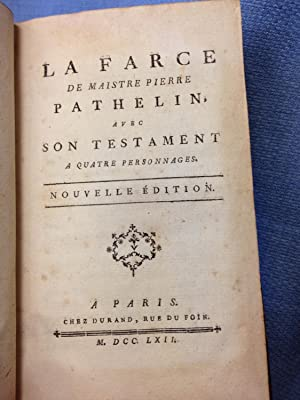 La Farce De Maistre Pierre Pathelin