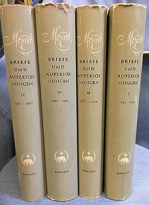 Mozart Briefe Und Aufzeichnungen. FOUR VOLUMES.: Mozart, Wolfgang Amadeus