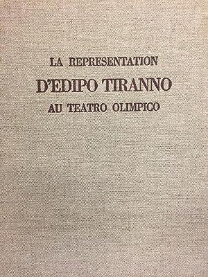 La Representation d'Edipo Tiranno Au Teatro Olimpico (Vincence 1585): Leo Schrade
