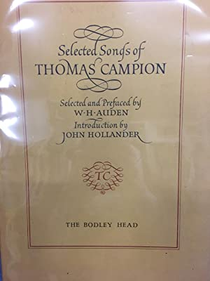 Selected Songs of Thomas Campion: Campion., Thomas, W.H. Auden