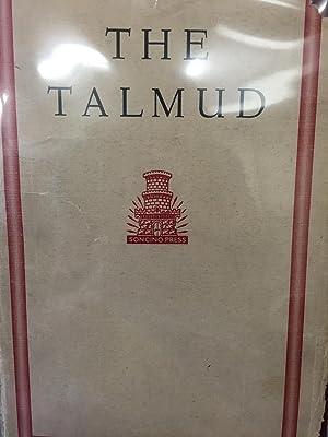 The Babylonian Talmud Seder Mo'ed. Volume V Yoma: Rabbi Dr. I. Epstein