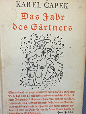 Das Jahr Des Gartners: Karel Capek