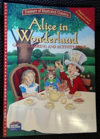Alice In Wonderland Giant Coloring and Activity Book. Treasury of ...