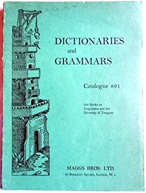 Dictionaries and Grammars Catalogue No. 891. April 1964.