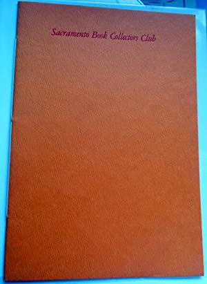 Sacramento Book Collectors Club Constitution, By-Laws & Articles of Incorporation with a List of ...