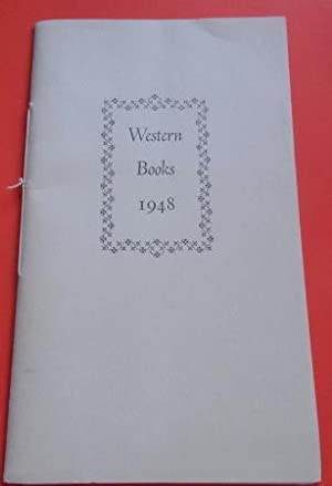 Exhibition of Western Books 1948: Catalog of a Selection from the Work of Western Printers Made b...