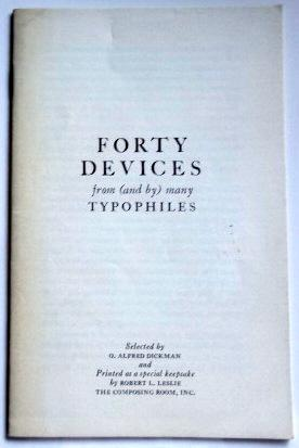 Forty Devices from (and by) ManyTypophiles.