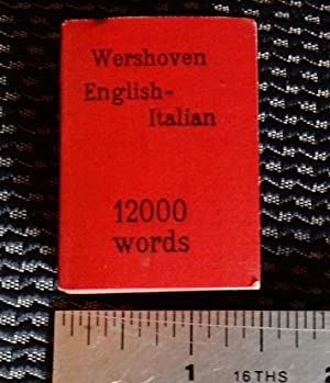 Lilliput Dictionary English-Italian. 12000 words.: Wershoven, Dr. F.J.