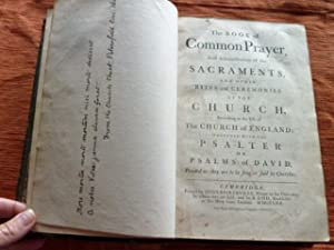 The Book of Common Prayer and Administration: Baskerville, John, printer.