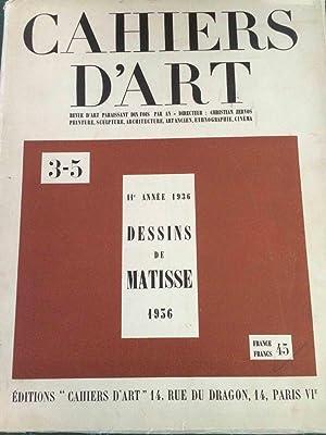 CAHIERS D'ART 3-5 - 11e ANNÊE 1936: Zervos, Christian -