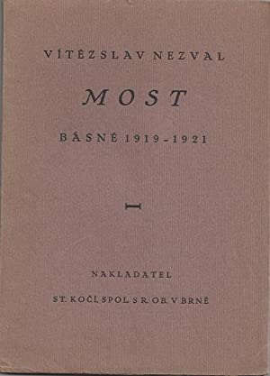 MOST Bàsne 1919-1921 - Inscribed and dated by V. Nezval