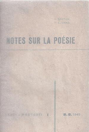 NOTES SUR LA POÉSIE - Testi -: Breton, andré -