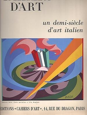 """CAHIERS D'ART 25e année I. 1950 """"un demi-siècle d'art italien"""" ..."""